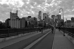 Stone Arch Bridge - Minneapolis, MN (russ david) Tags: stone arch bridge minneapolis mn mississippi river skyline october 2017 architecture