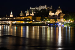 Salzburg by night (jussitoivanen) Tags: city cityphoto cityscape nightphoto nightpicture oldtown architecture