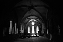 Abbaye de Villelongue - Aude (Philippe_28) Tags: aude 11 villelongue abbaye abbey monastère ruine france europe 24x36 argentique analogue camera photography film 135 bw nb