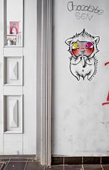HH-Wheatpaste 3720 (cmdpirx) Tags: hamburg germany reclaim your city urban street art streetart artist kuenstler graffiti aerosol spray can paint piece painting drawing colour color farbe spraydose dose marker stift kreide chalk stencil schablone wall wand nikon d7100 paper pappe paste up pastup pastie wheatepaste wheatpaste pasted glue kleister kleber cement cutout