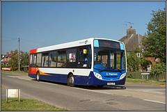 36211, Long Buckby (Jason 87030) Tags: blue sky 36211 96 rugby northampton railwaystation roadside branded branding kx60lht enviro e200 may 2018 wheels service route midlands northants northamptonshire stagecoach