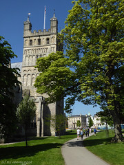 Cathedral Green (ExeDave) Tags: p1130187 exeter cathedral church stpeter saintpeter green devon sw england gb uk city urban greenspace stone norman gothic building architecture may 2018 tree