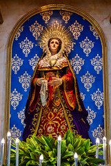 Virgen Dolorosa at the side retablo of the San Agustin Parish Church in Baliuag, Bulacan (Fritz, MD) Tags: bulacanvisitaiglesia visitaiglesia bulacan baliuagbulacan baliwagbulacan baliuag baliwag baliuagchurch balwagchurch sanagustinchurch saintaugustineparishchurchofbaliuag virgendolorosa birhengdolorosa ourladyofsorrows materdolorosa