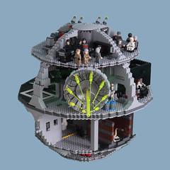 Lego Star Wars Death Star (graeme.watson) Tags: lego star wars death illuminated battle moc scarif rogue oneof one