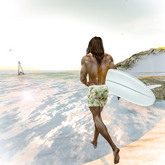 A Dip 3 (Greydude12) Tags: sl second life secondlife men beach swimwear leo grey swim dip sea sky surf seagull waves buoy leogrey man mens male boys guys handsome sexy hot brunette blue eyes ripped muscles muscular niramyth aesthetic bento enzo stud firestorm speedo trunks bum sun sunset sunrise
