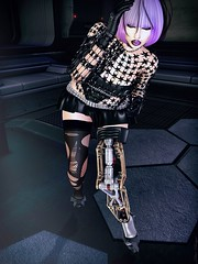 Future Of The Past (marduklust resident) Tags: slavatarsecondlife future cyberpunk electroindustrial industial scifi bad hair azoury promagic marduklust violet pink black chapter four tcf fameshed dae fangs zarco