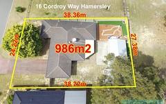 16 Cordroy Way, Hamersley WA
