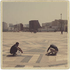 Waiting, Casablanca (Fuji and I) Tags: casablanca travel fujix alexarnaoudov vintage