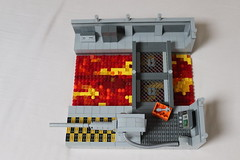 GBW Campaign 6 - Research Plant Golf (spud_the_viking) Tags: c6 gbw lego lava rail gun military army