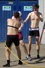 Fun with a Hosepipe (MalB) Tags: rowers rowing lycra shirtless camcambridge pentax k5