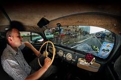 inside a retro car (Anton_Letov) Tags: strobist retro car weddingcars weddingphoto nikon rain urban russia