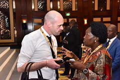 Speaker Rebecca Kadaga networking with investors on second day of AIM conference in Dubai (2)