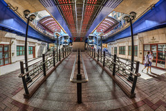 Under Canary Wharf Station (D-W-J-S) Tags: london2018 flickr canary wharf dlr station canon 100d tokina 1017mm fisheye lens hdr