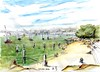 Perfect day - Sydney Harbour - Nielsen Park lunch (panda1.grafix) Tags: sydneyharbour seascape inkwash sketch
