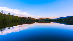 Reflective Blues (Brandon Proulx) Tags: nikon d7100 colorado landscape mountains colors sunset skies clouds rocks water lake river stream estes rocky mountain national park trees wide angle sigma 1020 816 10mm 8mm beautiful fort collins reflection distance watson poudre