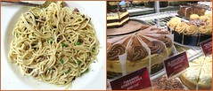 Which would you choose? (Bennilover) Tags: pasta pastacarbonara cheesecake tiramisu cheesecakefactory food choices calories fun theshopsatmissionviejo shopping seescandy
