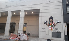 Paloma!!! (la-cast) Tags: stencil estencil pegas pegatina streetart steetart street posters monkey monos mural muro rosario