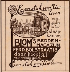 de stad Amsterdam 1923  adv Blom bedden  a (janwillemsen) Tags: advertising amsterdam 1923 magazineillustration