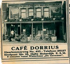 de stad Amsterdam 1923 adv cafe Dorrius (janwillemsen) Tags: advertising amsterdam 1923 magazineillustration