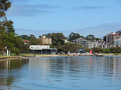 24 April 2018 - View along the foreshore towards the Boatshed Restaurant & Funcats on the Swan River at Coode St, Victoria Park, Perth, Western Australia (aussiejeff) Tags: 2018 zoom australian shag darter pelican seabird bird feathers nature victoriapark westernaustralia wa australia aussiejeff jeffc canon sx620 powershot water swanriver jetty coodestreet funcats boathouse restaurant
