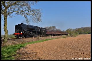 No 92203 Black Prince 22nd April 2018 North Norfolk Railway Steam Gala