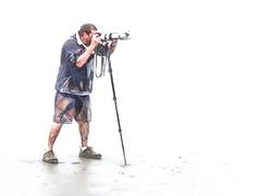 X-Ray Visions (Steve Taylor (Photography)) Tags: translucent camera monopod strap lens shorts xray art digital blue black white pink flesh strange odd man newzealand nz southisland photographer canterbury christchurch newbrighton beach seethrough transparent