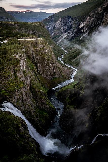 The Voringsfossen Waterfall