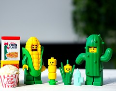 """""""You're a horrible father Jack!"""" (Legoliscious) Tags: cactus babies corn cornflakes parenthood father lego minifig minifigures minifigure legominifigures smile humor fun green yellow breakfast toy toys toyphotography legography food"""