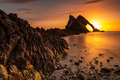 Bow Fiddle Suprise (Pureo) Tags: bowfiddle portknockie moray morayfirth cullen cullenbay scotland sunrise rock canon clouds canondslr dawn exposure flowing goldenhour glow longexposure le leefilters lee northsea pebbles quiet rocks seascape sea sky silky water waterscape waves