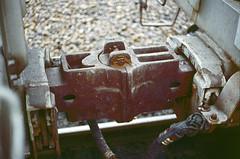 UP 220204 (Chuck Zeiler) Tags: up 220204 railroad covered hopper freight car coupler cotter train chuckzeiler chz