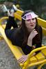 Sporty look (piotr_szymanek) Tags: melania melaniab woman portrait milf skinny young face eyesoncamera bench black outdoor botanicgardens fotogenerator 1k 20f 5k 50f 10k fromabove 20k