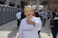 Winnipeg Jets Playoff Street Party (bryanscott) Tags: downtown manitoba people portrait winnipeg winnipegjets canada ca
