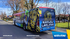 Info Media Group - Lav, BUS Outdoor Advertising 04-2018 (2) (infomedia_group) Tags: busadvertising wrap outdoor publictransport citytransport urbantransport road transport tree building car window sky lav lavpivo beverage beer