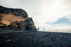 Stone Needles (lu★) Tags: black sand beach iceland troll landscape legend
