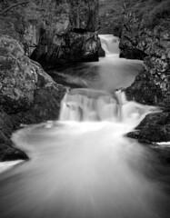 Waterfall ingleton (Mycatkins) Tags: mpp 5x4 ingleton waterfalls water black white