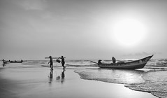 Coming Home (Padmanabhan Rangarajan) Tags: fishermen home coming fujixt2 chennai india