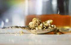 Chamomile tea with honey.... (Elisafox22) Tags: elisafox22 sony nex6 e30mm f35 macro macrolens hmm macromondays honey chamomile flowers readyfortheday kitchen breakfastbar dof sunshine spoon coronationspoon morning sunlight tabletop indoors elisaliddell©2018