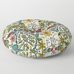 aziza pearl round floor pillow (Scrummy Things) Tags: aziza floral society6 soc6 sharonturner boho bohemian flowers morocco moroccan floorpillow cushion floor