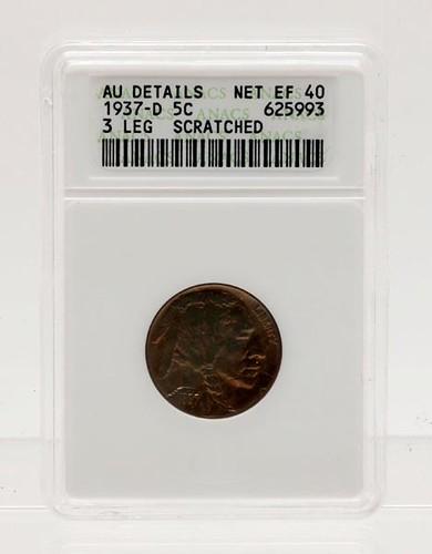 1937-D 3-Legged Buffalo Nickel ANACS Graded ($784.00)