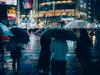 Rainy Shibuya (_dt27) Tags: japan tokyo shibuya rain blue umbrella crossing