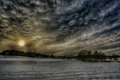 Over the horizon (Roman_P2013) Tags: best shot norway norge skreia nice super sun snow winter view clouds