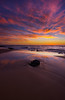 Back Beach sunset (snowyturner) Tags: westernaustralia bunbury backbeach sunset reflections rock waves skies clouds colourful beach sand sea indianocean