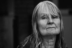 *** (dagomir.oniwenko1) Tags: portrait person portret people portraits ritratto retrato face female oldwoman mono blackandwhite bw eyes england canon candid canon100mmf28lismacro canoneos7d humans lincolnshire life street style