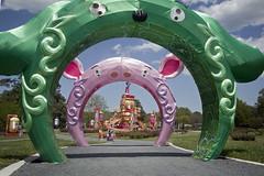 Norfolk Botanical Gardens - Asia Lantern arches Virginia