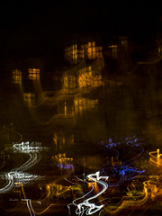 magic town (tseehaus) Tags: magic mysterious night town swing color icm intentionalcameramovement blur