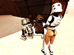 We are Looking for Two Droids Again!! (Tori Avonside) Tags: selfie secondlife sl maitreya catwa beauty sexy woman female girl digital art photography clothing mesh fashion hot people ysys starwars stormtrooper droids scifi