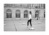 Parisienne [modelling variation] (Istvan Penzes) Tags: leicammonochromtyp246 penzes manualfocus rangefinder availablelight handheld bw black white paris france leicasummicron35mmv1 street girl parisienne palaceroyal holiday
