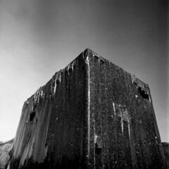 Stronghold (Jan Zielinski) Tags: rock stavern blackandwhite bw blackwhite norway norge coastal strength stronghold vestfold installation statue