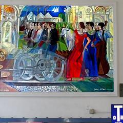 Stazione di Pisa (pom'.) Tags: april 2018 pisa toscana tuscany italia italy europeanunion art painting 1991 1992 panasonicdmctz101 100 20thcentury danielschinasi station 200 5000
