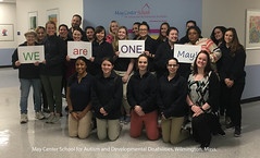 Hello from our May Center School for Autism and Developmental Disabilities, Wilmington, Mass.